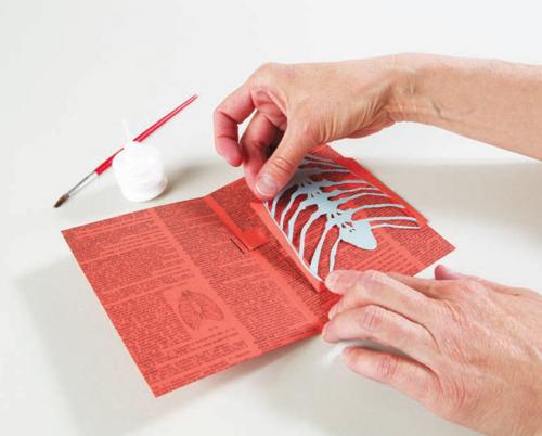 How to make a pop up skeleton card