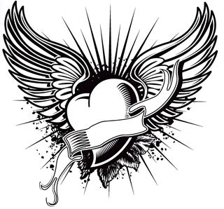 Heart-wing-banner-tattoo-art