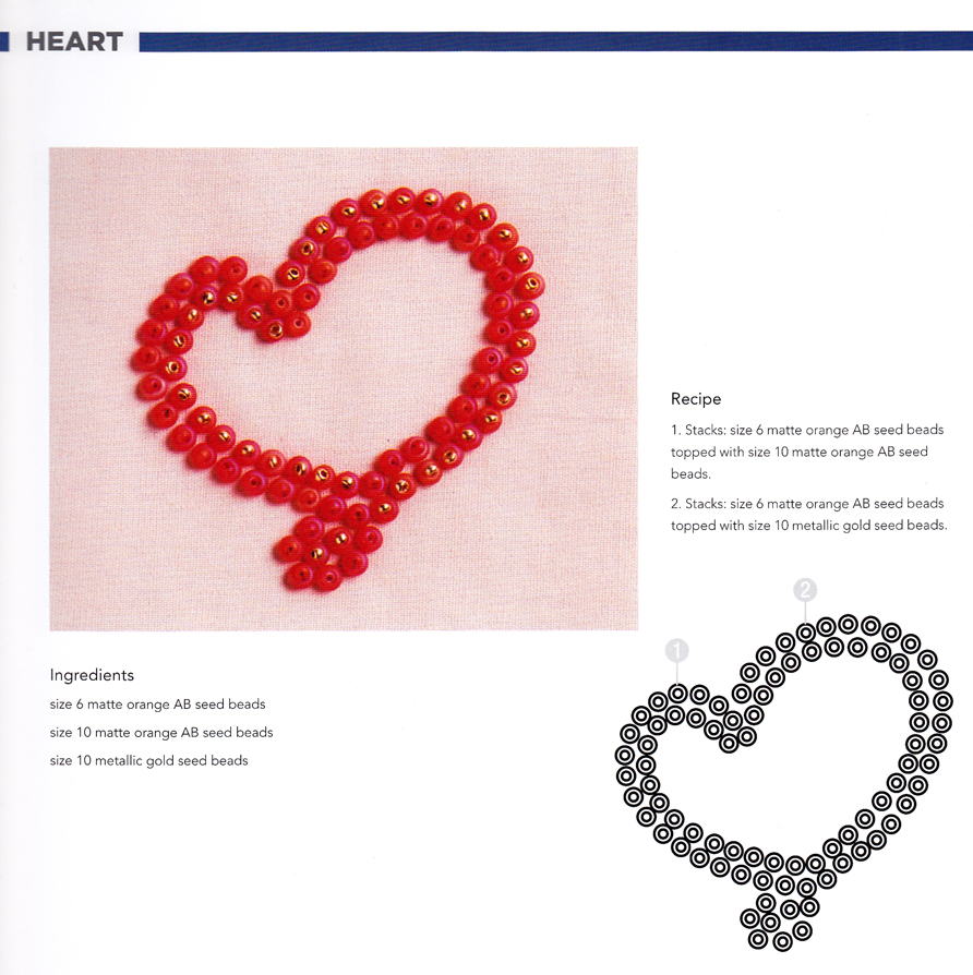 Craftside Heart Bead Embroidery Pattern From The Book How To Make