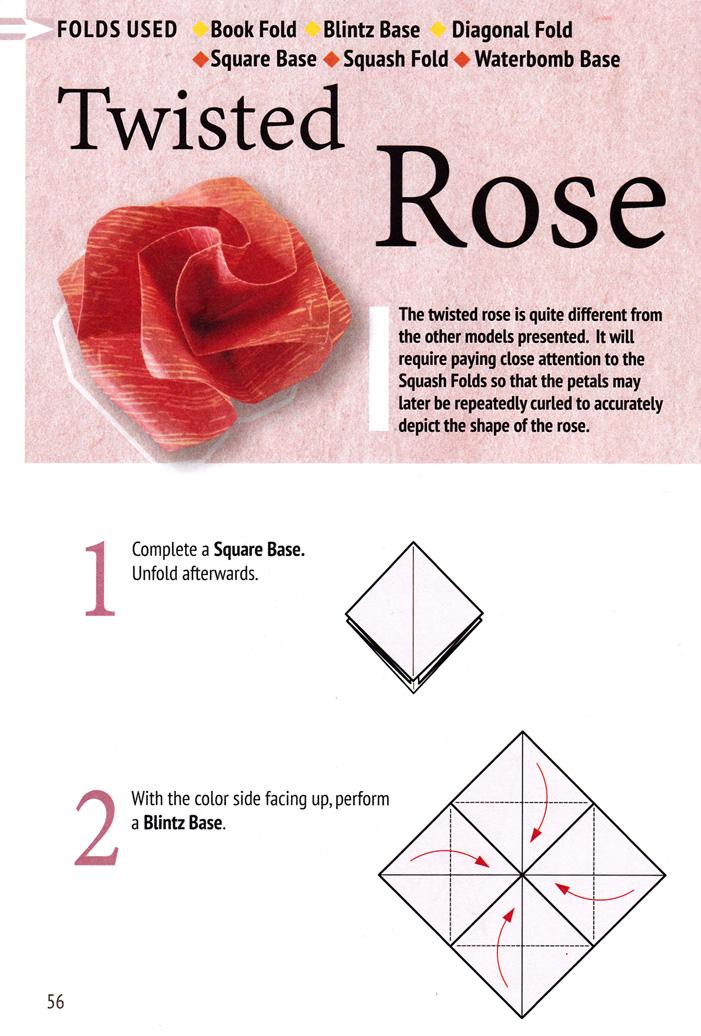 DIY Origami Rose Bouquet   1036x701