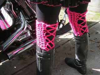 How to crochet lace up boot toppers