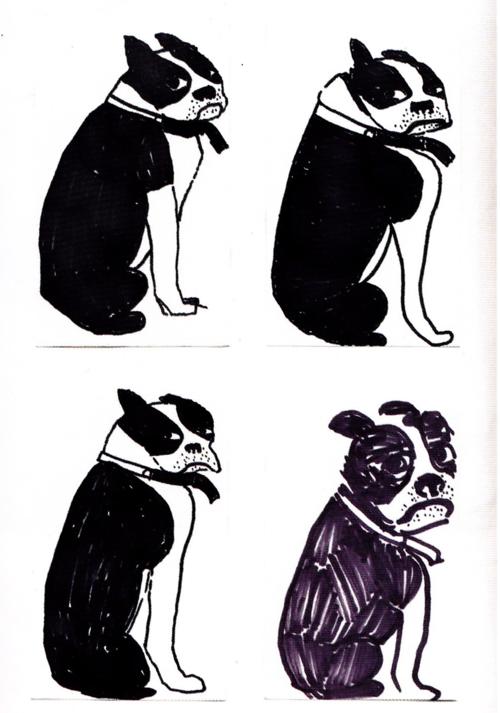 Art prompt-sketch a dog