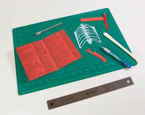 How to make a skeleton pop up card