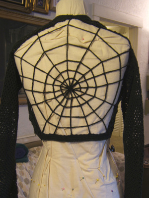 Craftside Spider Web Sweater Crocheted With A Simple Chain Stitch